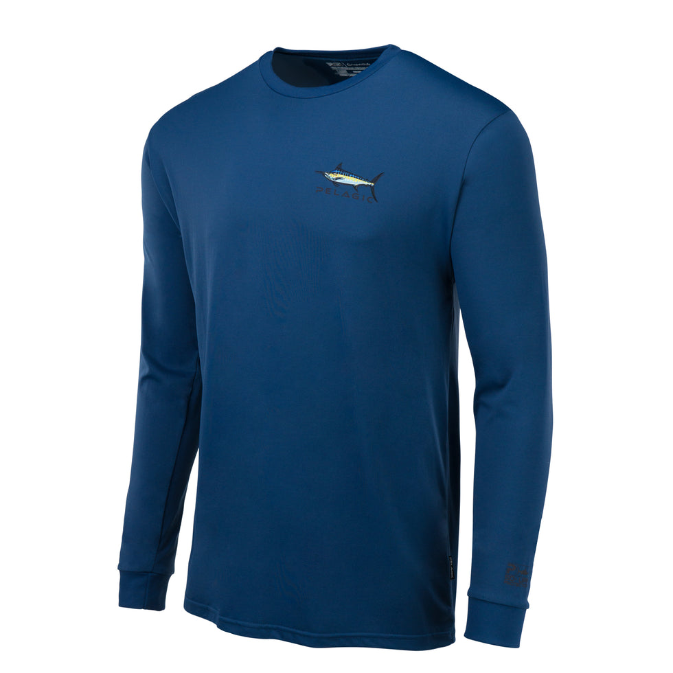Aquatek Shadowed Marlin Long Sleeve Fishing Shirt Big Image - 2
