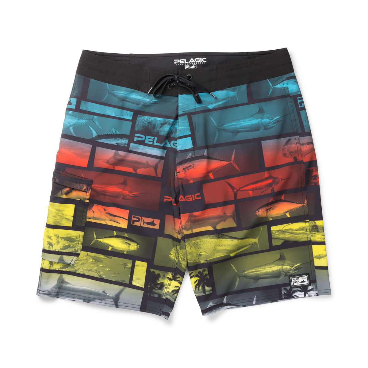 Blue Water Fishing Shorts Big Image - 1