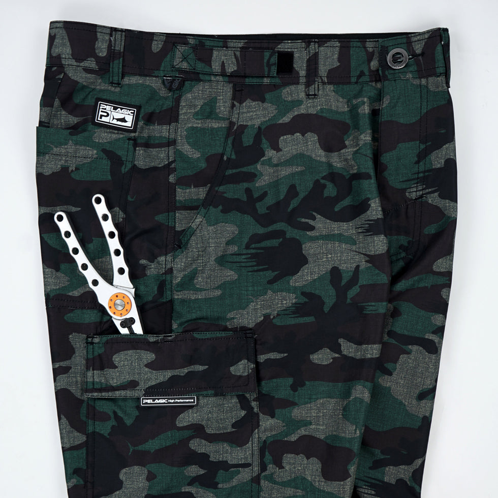 Socorro Hybrid Camo Fishing Shorts Big Image - 5