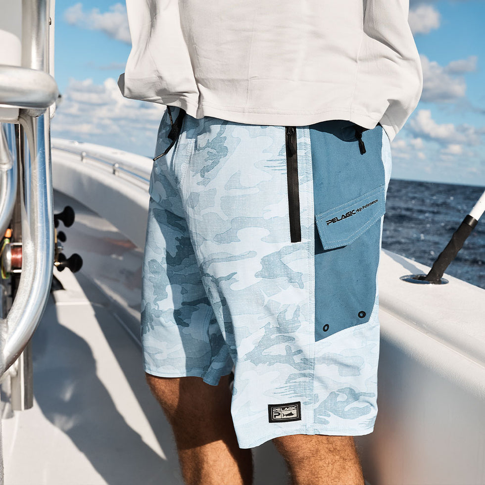 Ocean Master Camo Fishing Shorts Big Image - 9