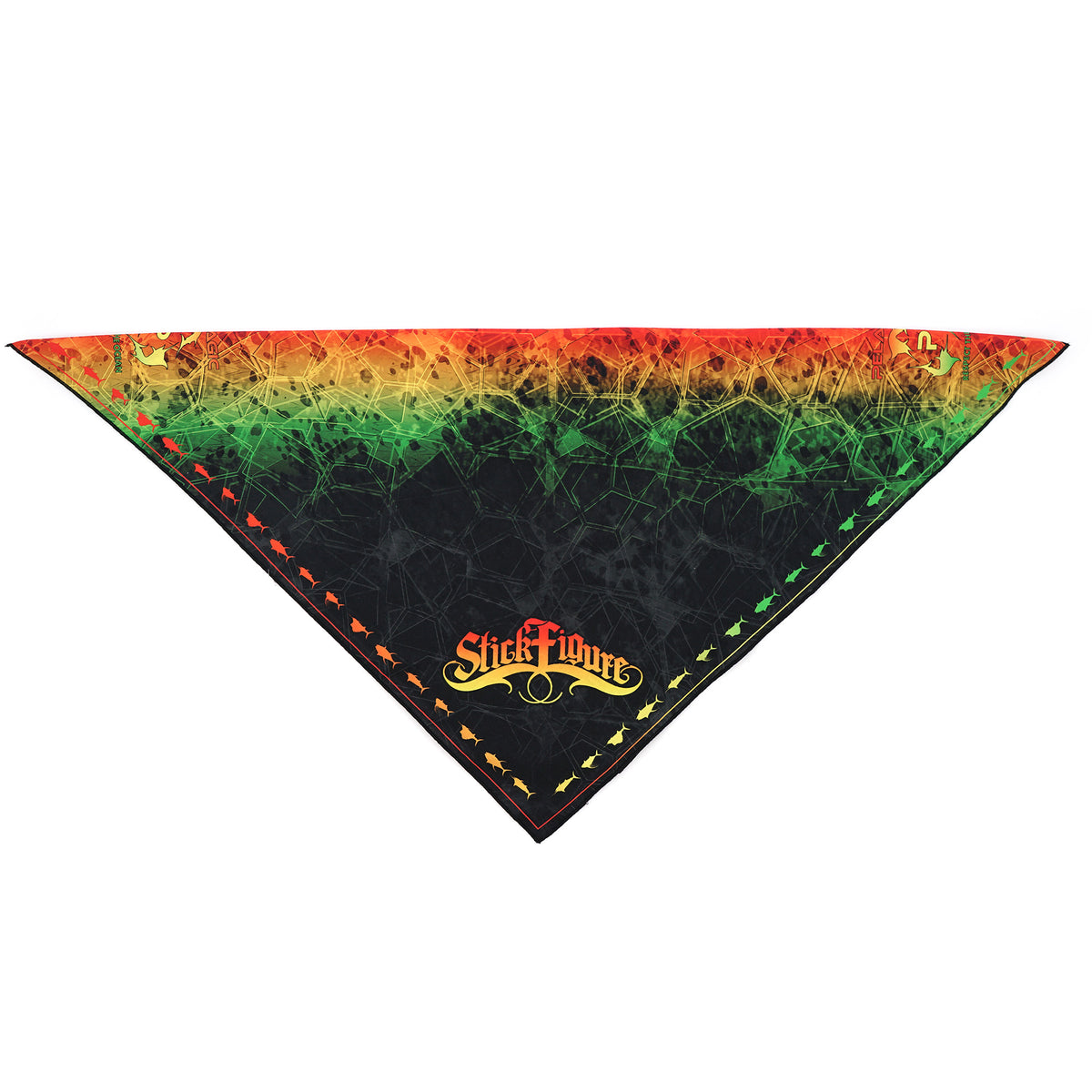 Stick Figure Bandana Black Big Image - 2