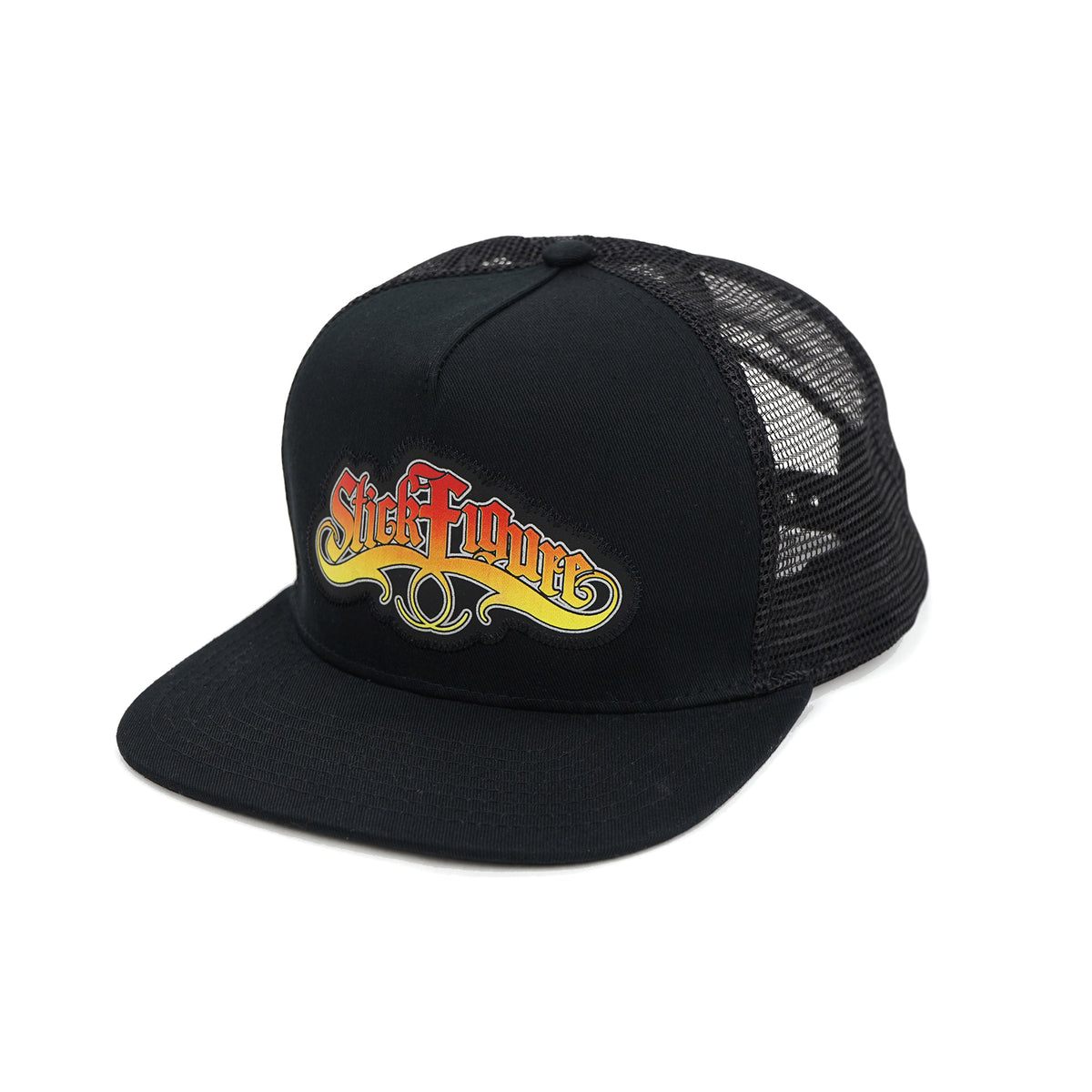 Stick Figure Snapback Black Big Image - 1