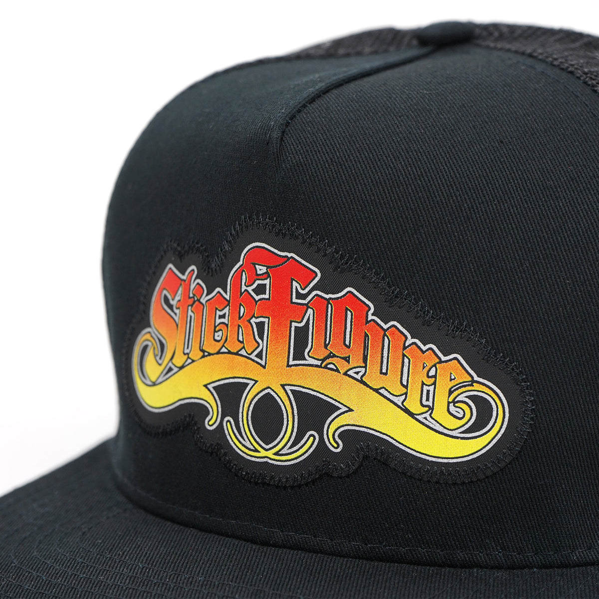 Stick Figure Snapback Black Big Image - 3