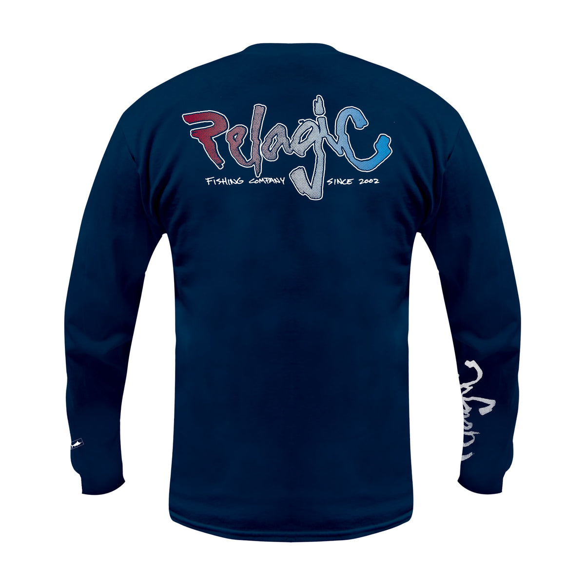 Scribble Long Sleeve Fishing T-Shirt Big Image - 1