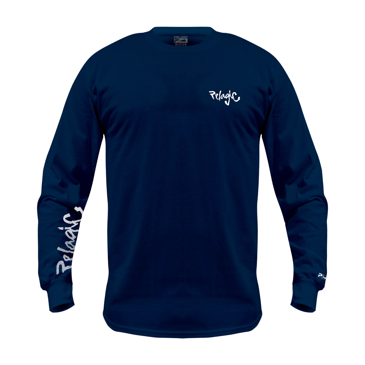 Scribble Long Sleeve Fishing T-Shirt Big Image - 2