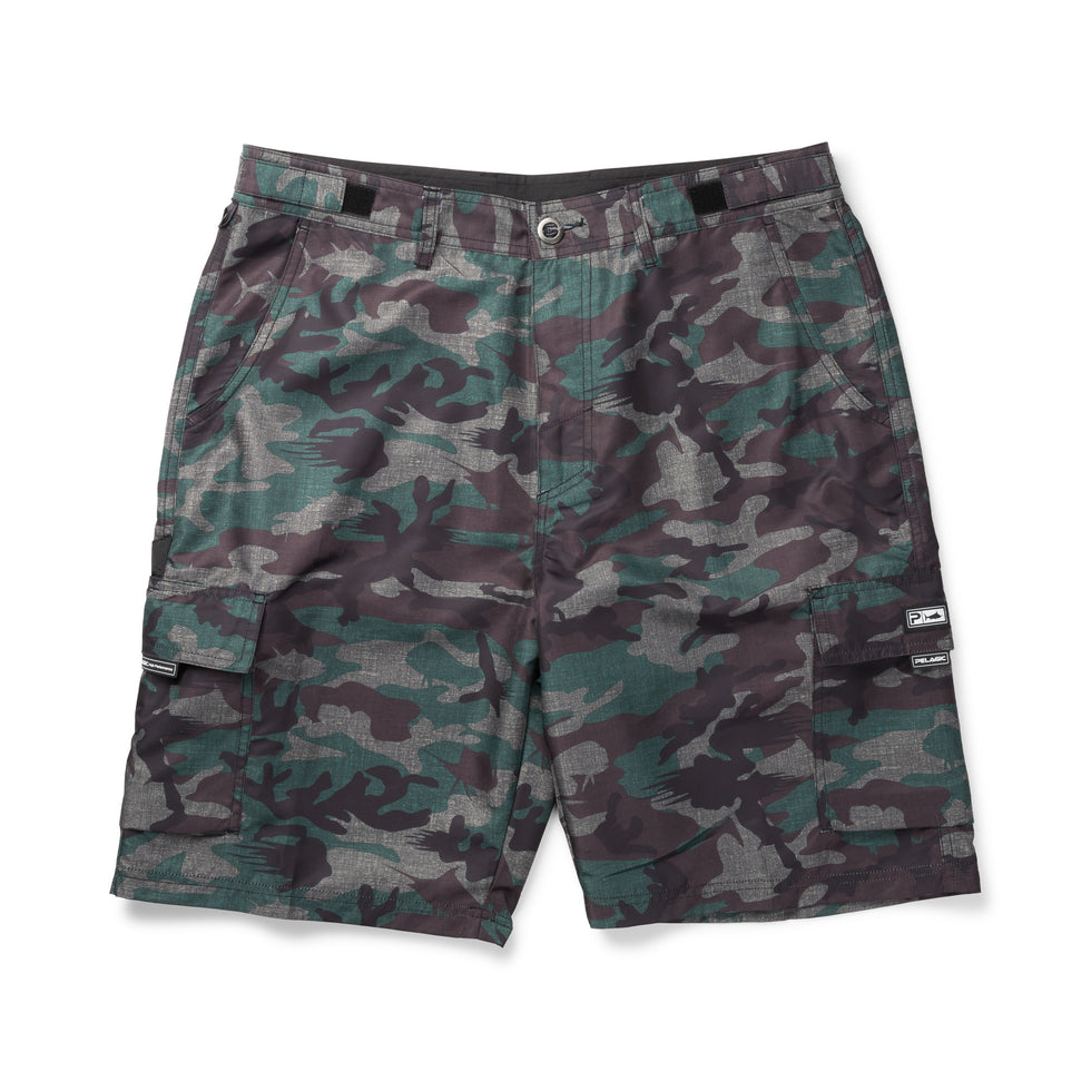 Socorro Hybrid Camo Fishing Shorts Big Image - 1