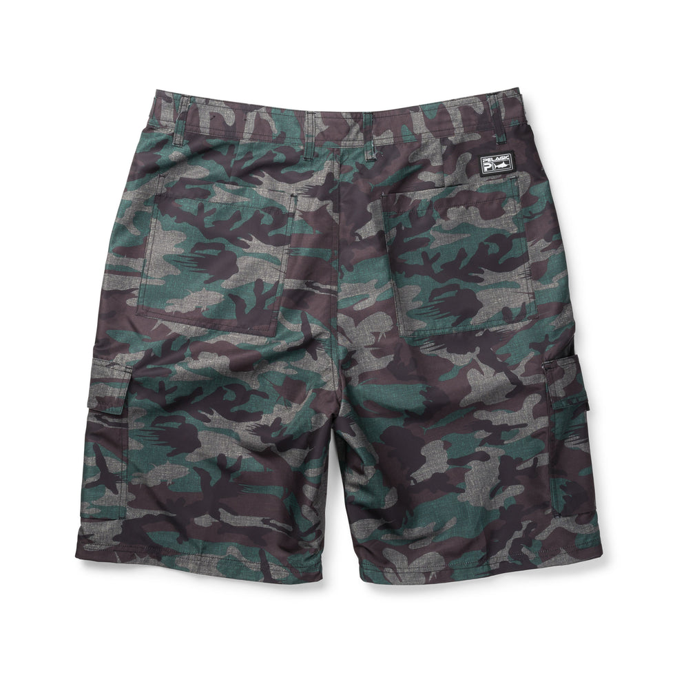 Socorro Hybrid Camo Fishing Shorts Big Image - 2