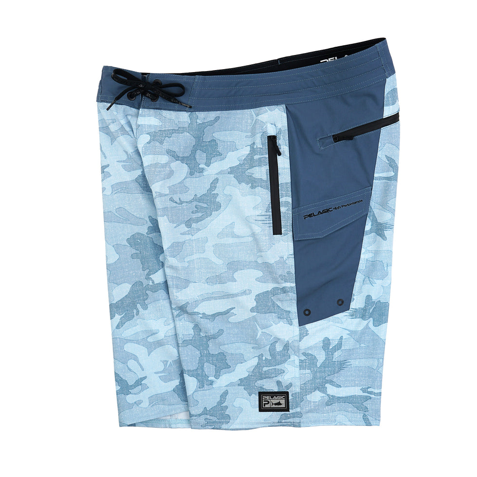 Ocean Master Camo Fishing Shorts Big Image - 3