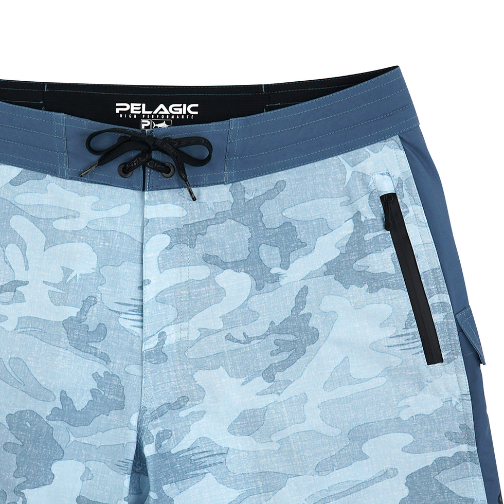Ocean Master Camo Fishing Shorts Big Image - 4