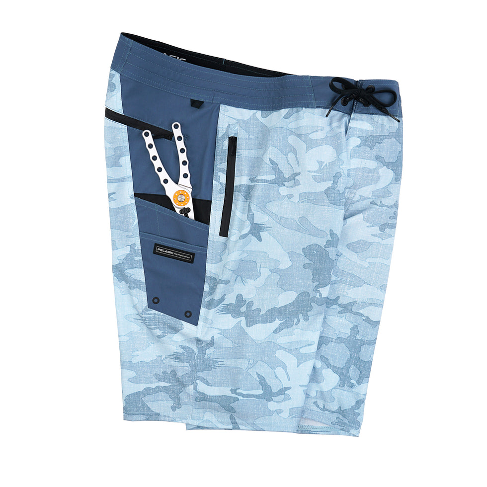 Ocean Master Camo Fishing Shorts Big Image - 5