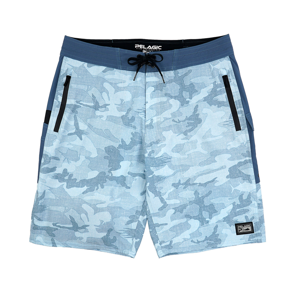 Ocean Master Camo Fishing Shorts Big Image - 1
