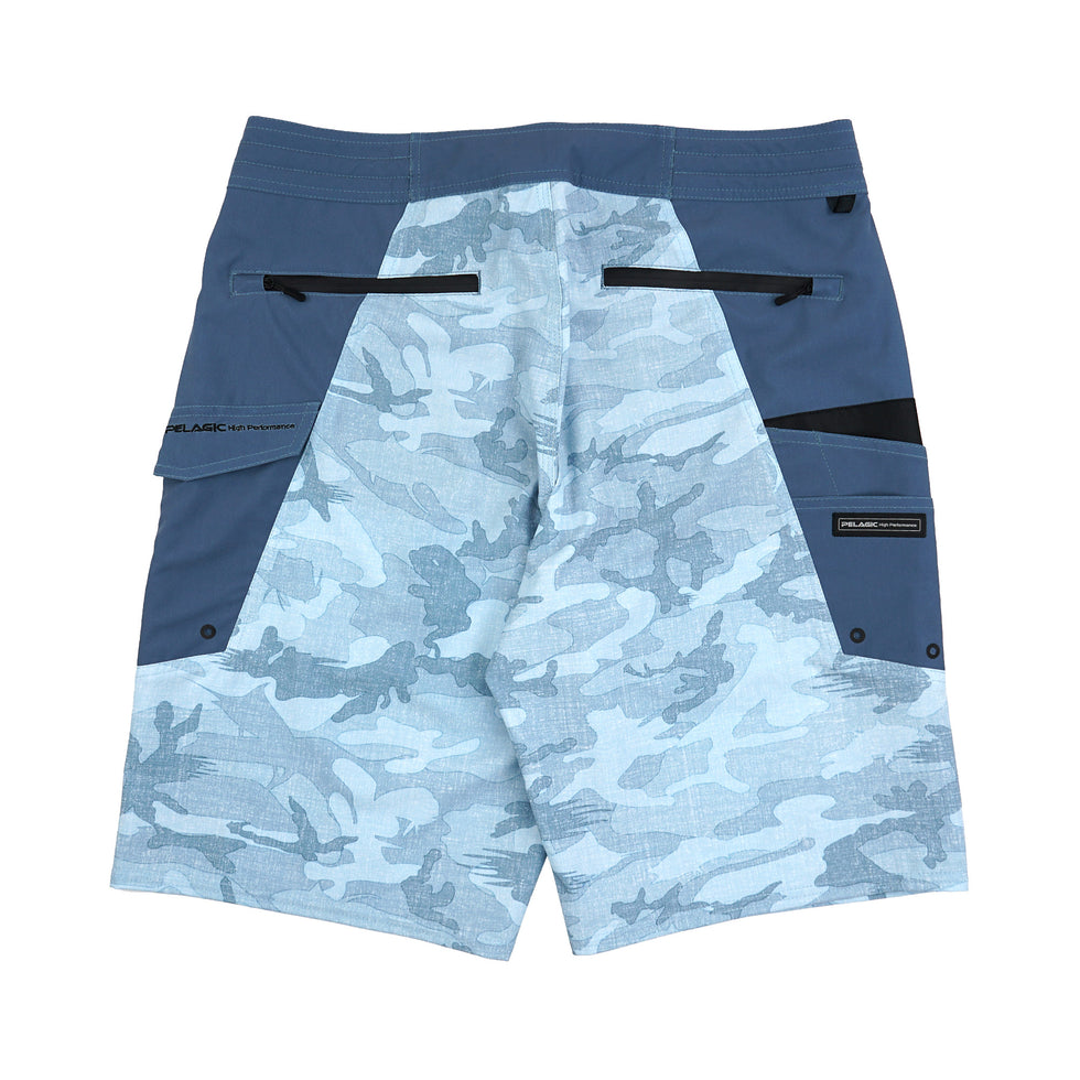 Ocean Master Camo Fishing Shorts Big Image - 2