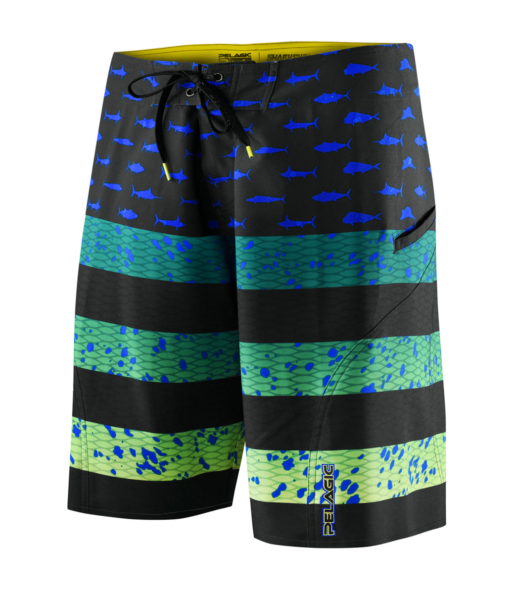 Sharkskin Americamo Fishing Boardshort - Youth Big Image - 5