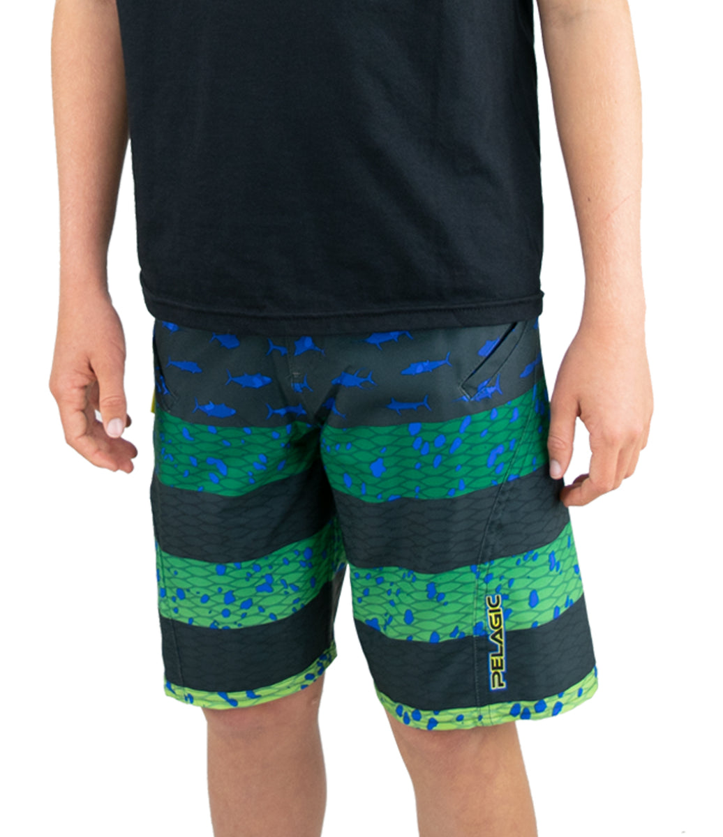Sharkskin Americamo Fishing Boardshort - Youth Big Image - 4