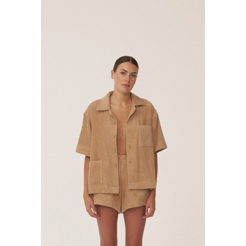 BOXY SHIRT - TERRY - TOWELING