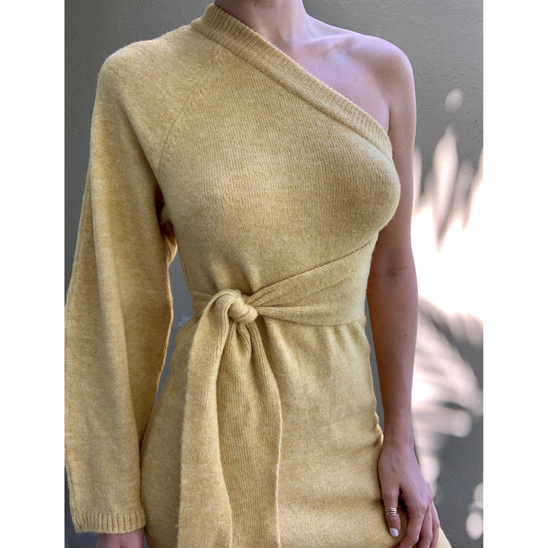 One Sleeve Asymmetric Mini Dress / Women's Clothing Boutique
