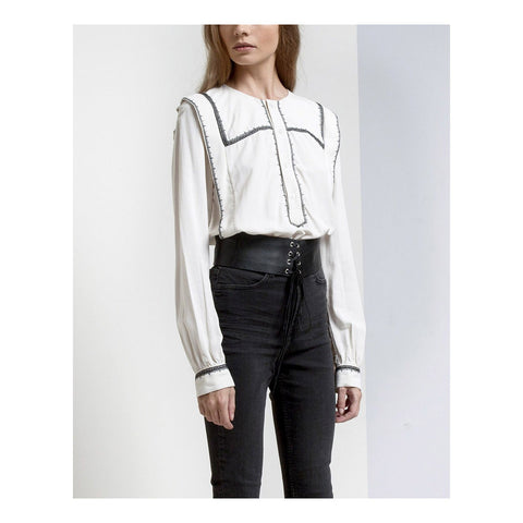 Posey cropped detailed shirt