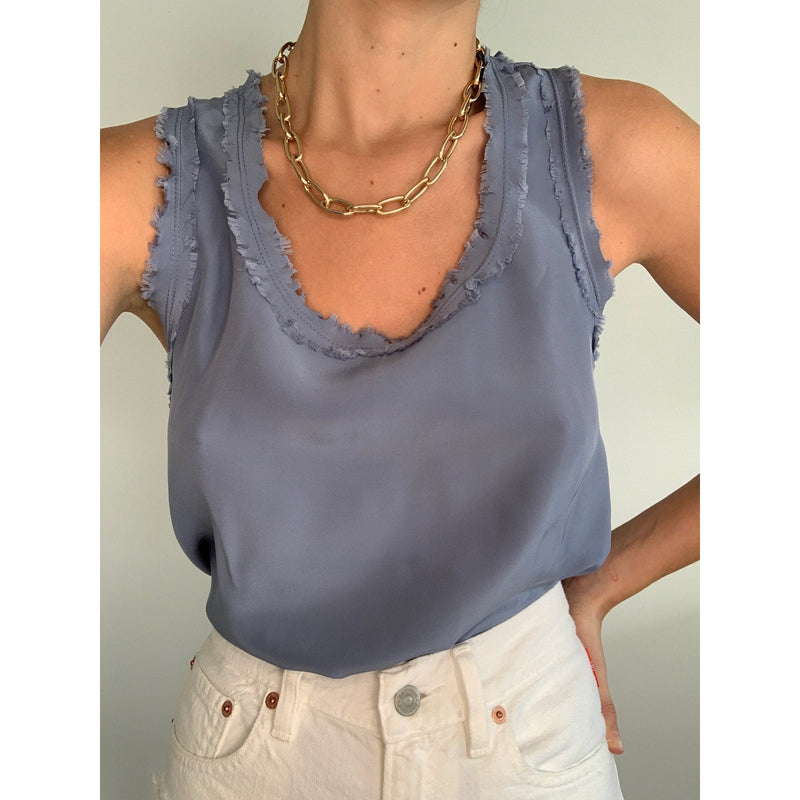 Long Silk Cami Top | Women's Clothing Boutique