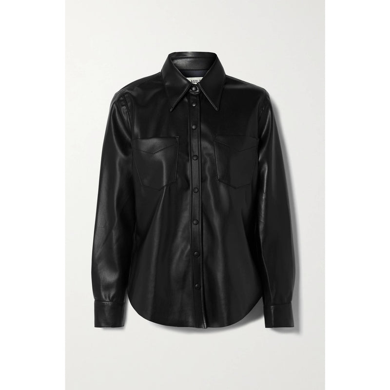 Paloma Vegan Leather Shirt | Women's Clothing Boutique