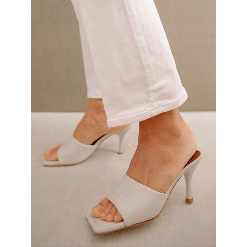Puffy White Heels  | Women's Clothing Boutique