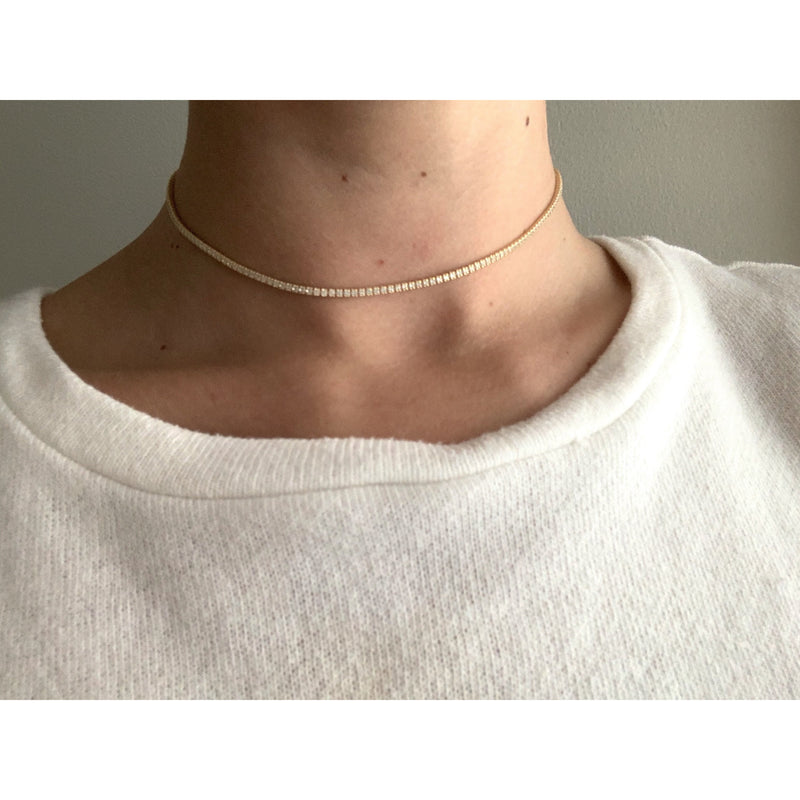 Tennis choker necklace