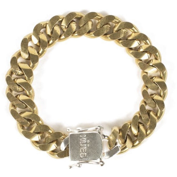 Satin Gold Box Clasp Bracelet