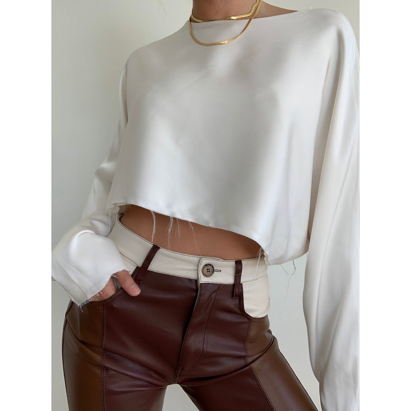Five Pocket Vegan Leather Pants | Women's Clothing Boutique
