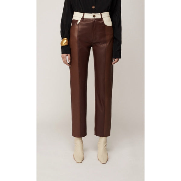 Five Pocket Veagn Leather Pants | Women's Clothing Boutique