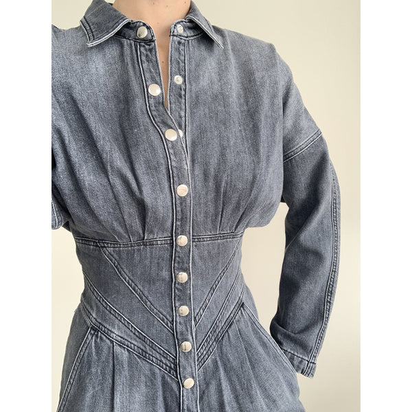Flower Vintage Grey Denim | Women's Clothing Boutique