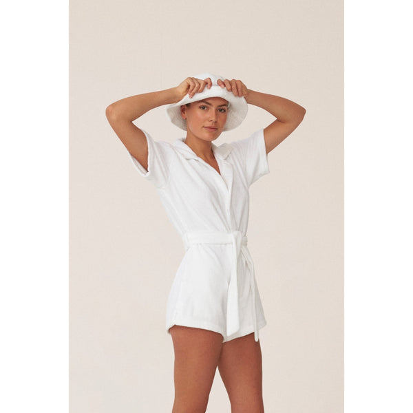 IL PAREO JUMPSUIT - BIANCO TERRY