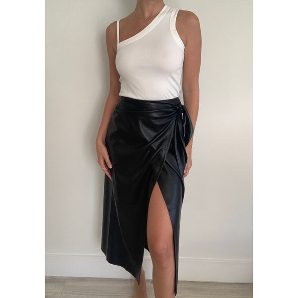 Amas Vegan Leather Sarong Skirt | Women's Clothing Boutique