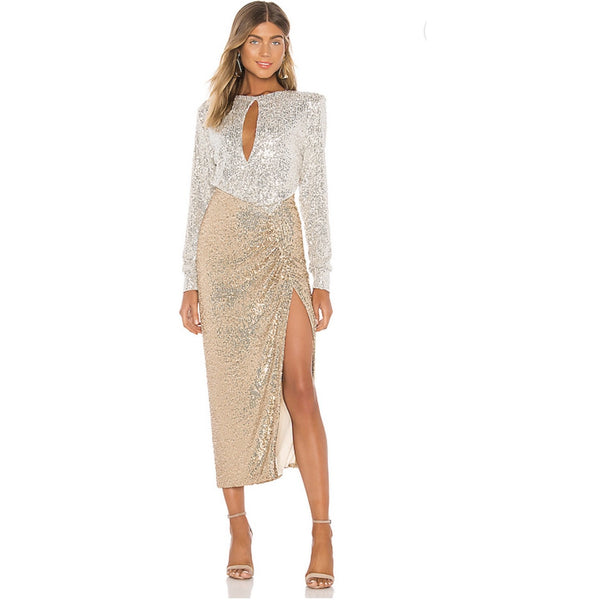 Lena sequin maxi Dress