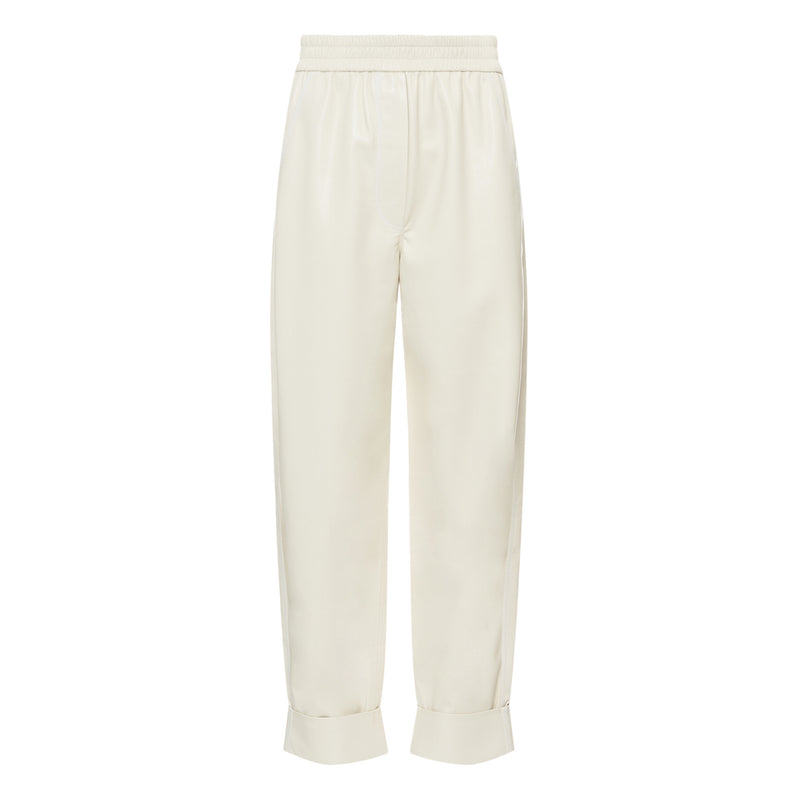 Cream Leather Selah Pant
