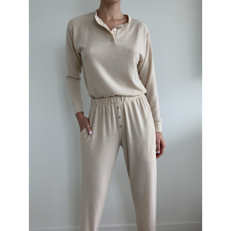 Sweater Henley Sweatpants | Women's Clothing Boutique