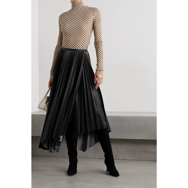 Asymmetrical Pleat Skirt | Women's Clothing Boutique