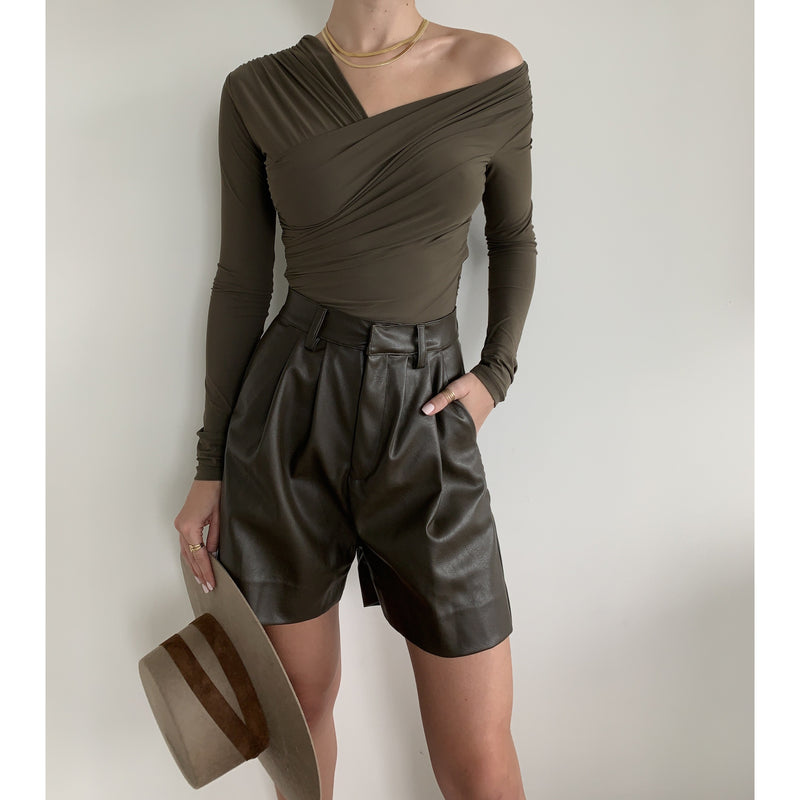 Vegan Leather Short | Women's Clothing Boutique