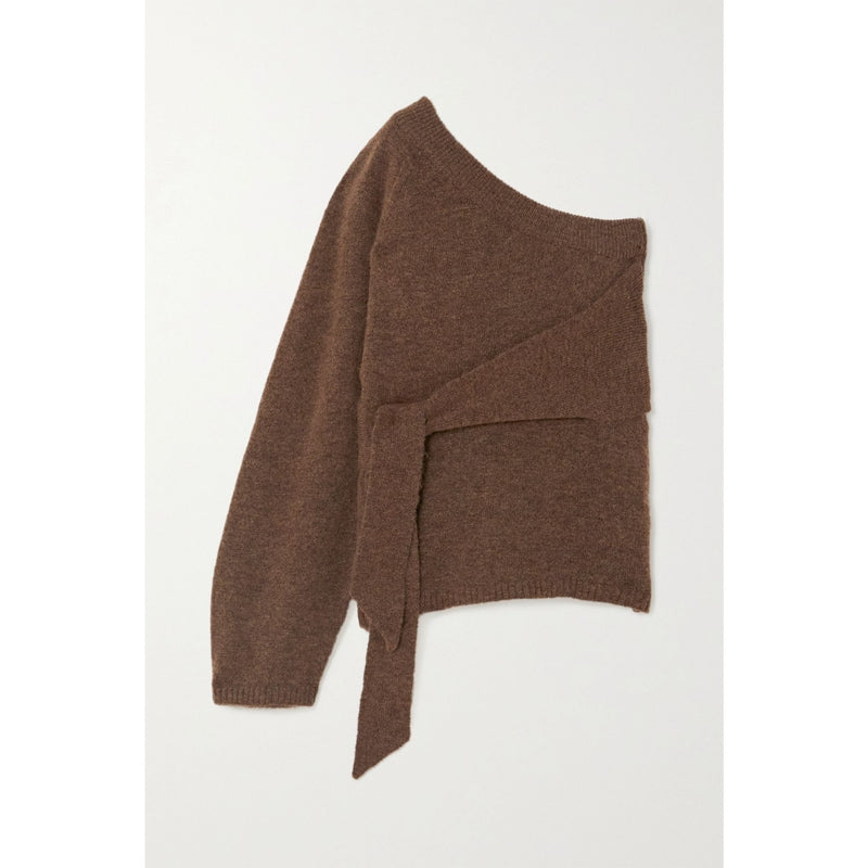 Cleto Cropped One Sleeve Tie Sweater