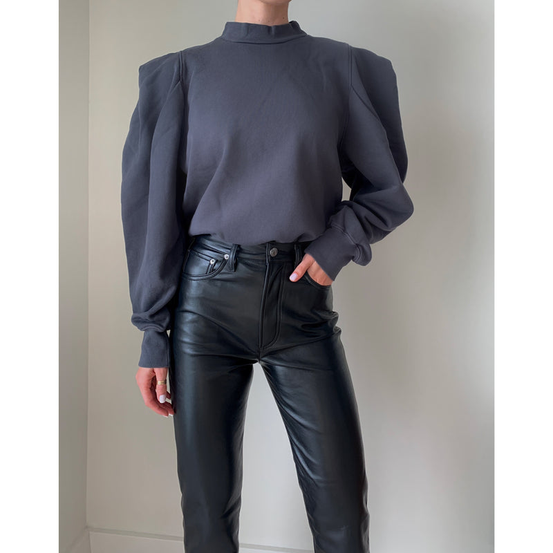 Folded Sleeve Sweatshirt | Women's Clothing Boutique