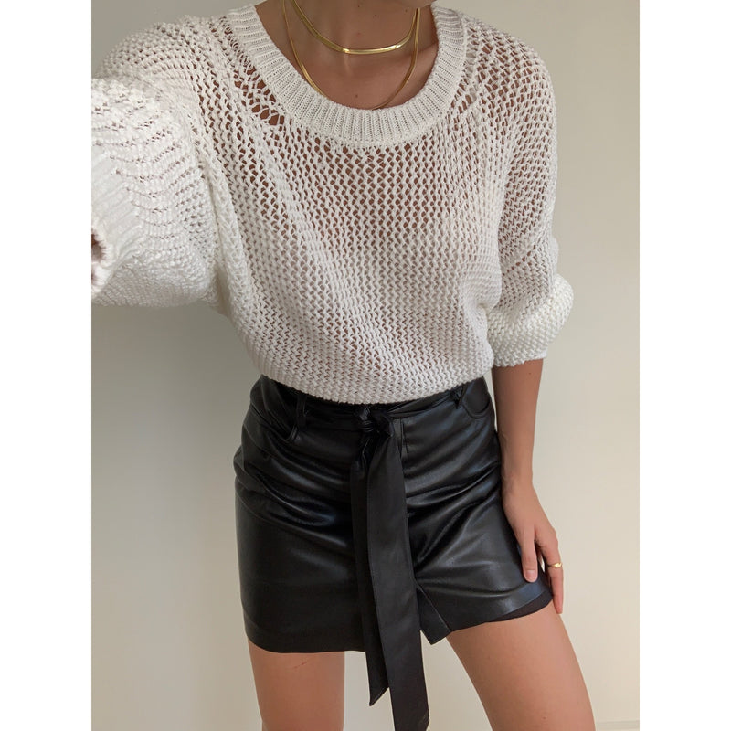Vegan Leather Mini Skirt | Women's Clothing Boutique