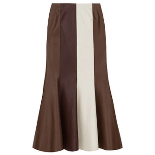 Fluted Vegan Leather Skirt | Women's Clothing Boutique