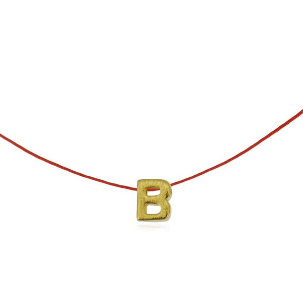 Initial Necklace red string