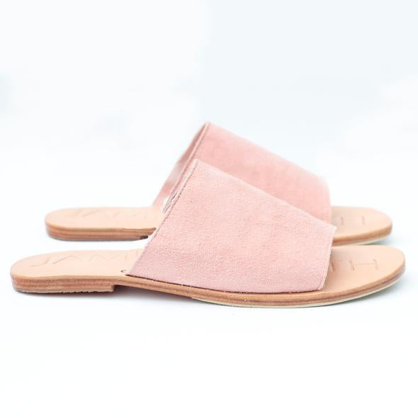 """Off duty"" Pink suede"