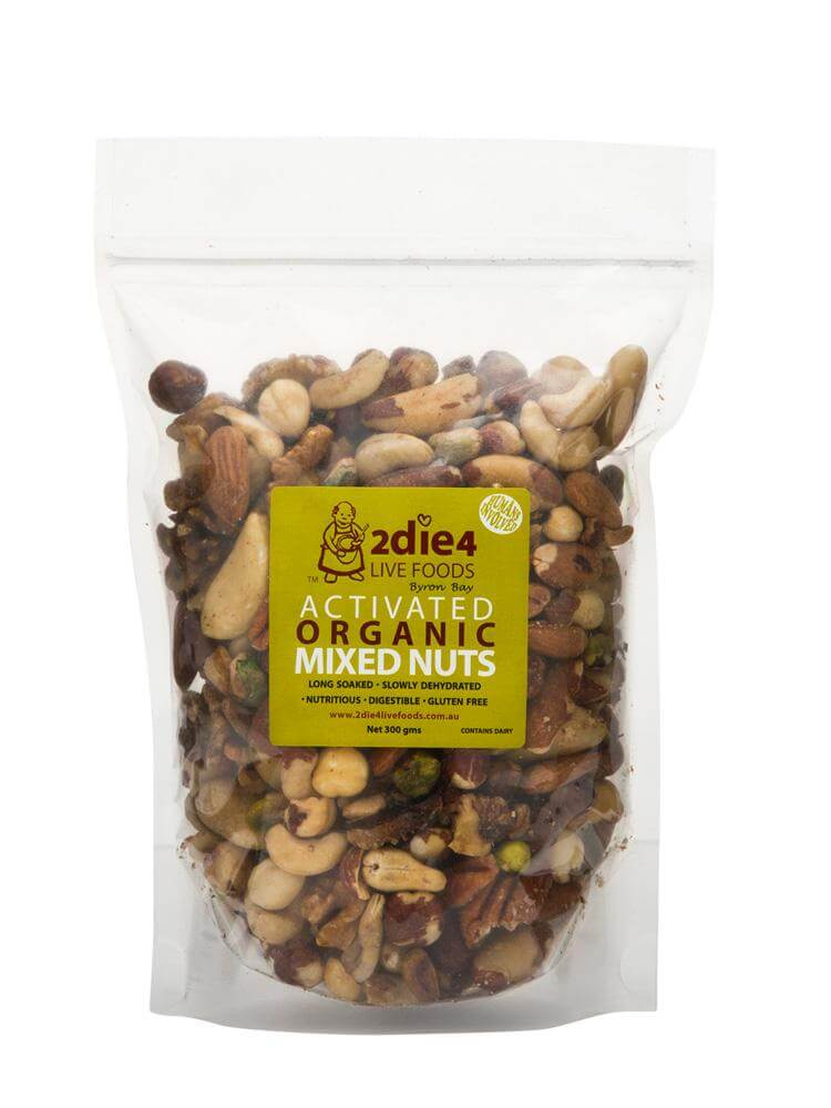 2die4 Live Foods Activated Organic Walnuts 120g