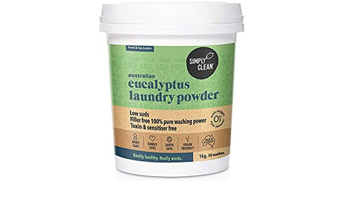 Simply Clean Eucalyptus Laundry Powder 1kg