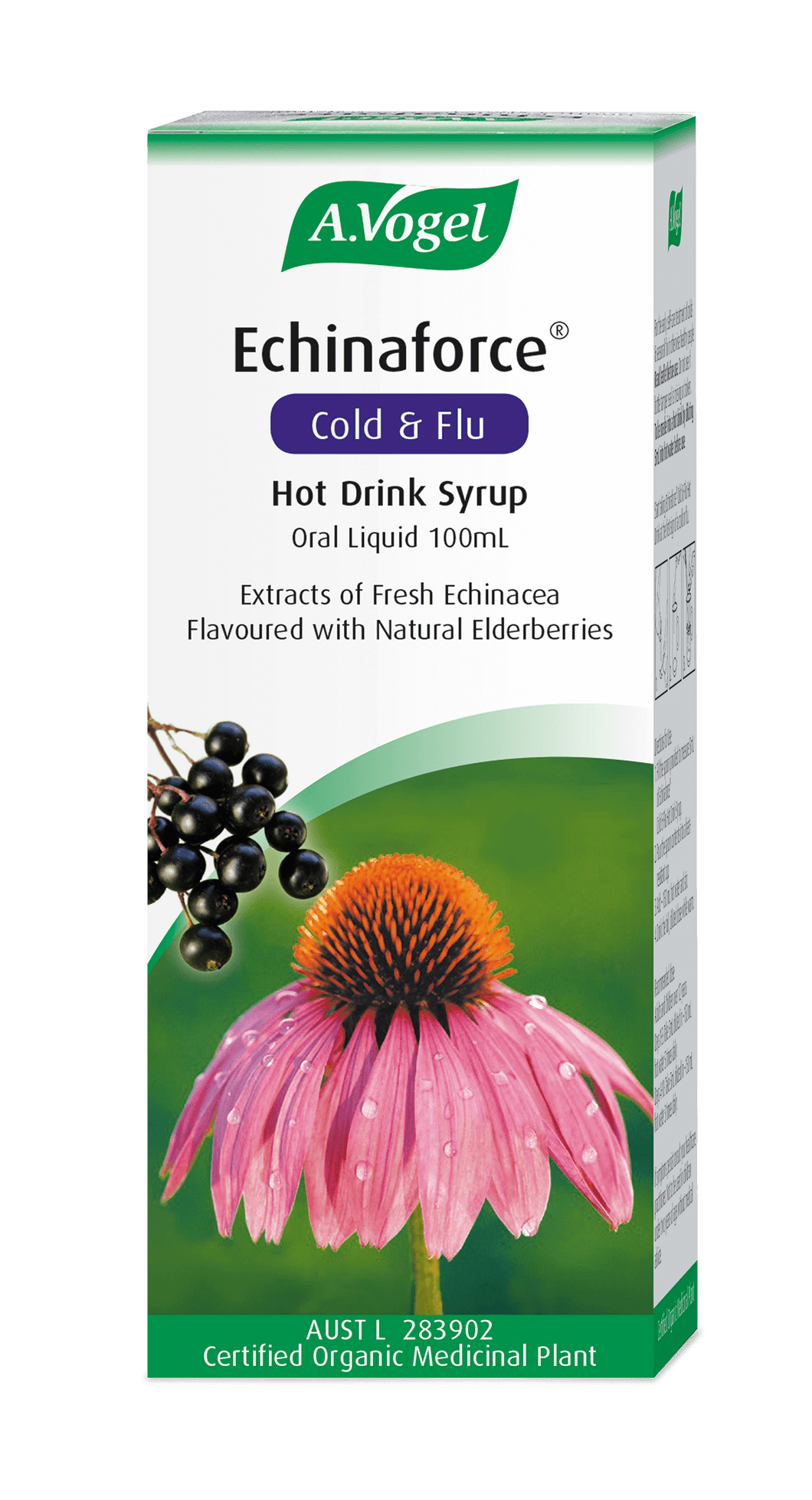 A Vogel Echinaforce Cold and Flu Hot Drink Syrup 100ml