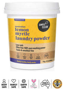 Simply Clean Lemon Myrtle Laundry Powder 1kg
