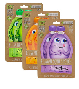 Little Mashies Reusable Squeeze Pouch 2 pack 130ml