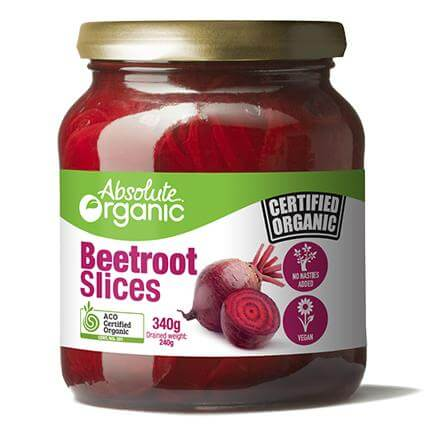 Absolute Organic Beetroot Slices 340gm