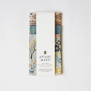 Apiary Made Sustainable Beeswax Food Wraps 3-pack