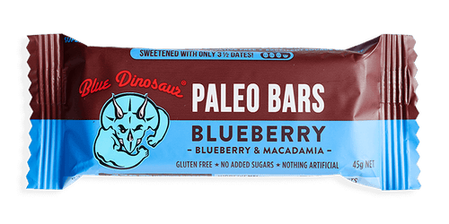 Blue Dinosaur Paleo Bars Blueberry and Macadamia 45g